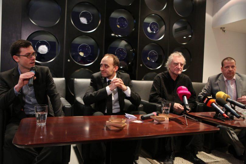 Tisková konference k projektu Umění pro Václava Havla