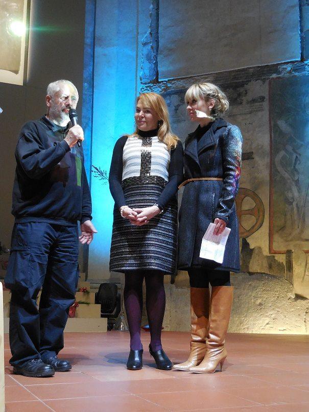 Dagmar Havlová s Kurtem Gebauerem a Kateřinou Herčíkovou